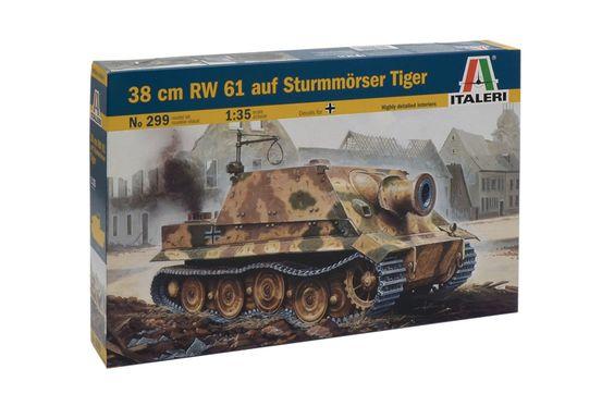 38 cm RW 61 auf Sturmmörser Tiger - ITALERI 299 - Maquette