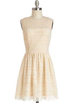 Fashionably Undulate Dress in Cream, #ModCloth