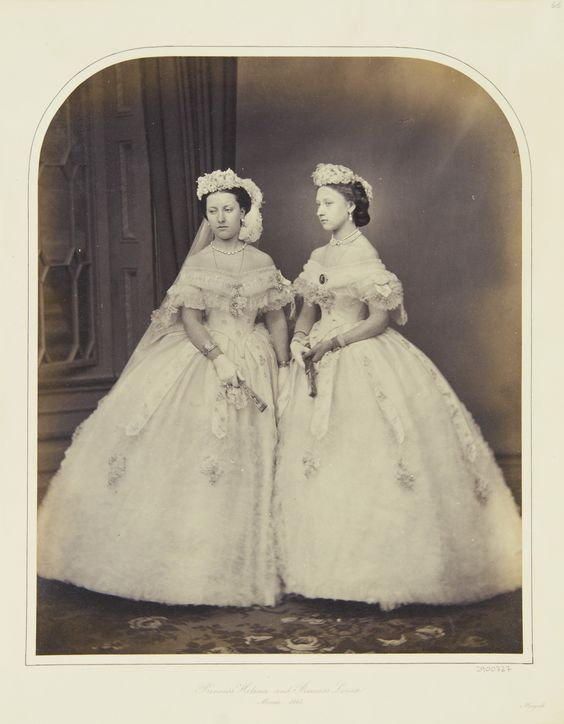 Princess Helena and Princess Louise, March 1863 [in Portraits of Royal Children Vol.6 1862-1863] | Royal Collection Trust