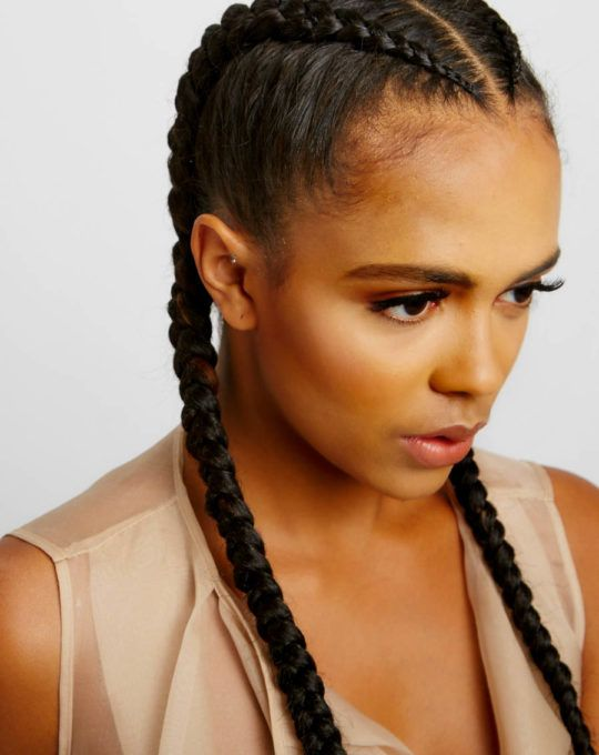Cornrows With Added Hair 1 2 Braids Yeluchi By Un Ruly Goddess Braids Hairstyles Braided Hairstyles Natural Hair Styles