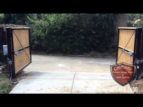 Colorado Automatic Driveway Gate System - YouTube