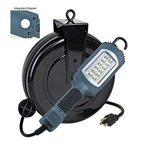 Hot New Item Led Cord Reel Shop Garage Work Light 1000 Lumens 5030ahs Led Garage Lights Led Work Light Work Lights