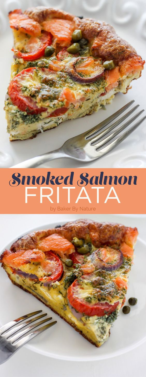 Smoked Salmon Frittata by Baker By Nature