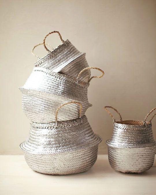 metallic baskets