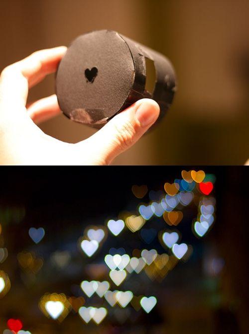 #DIY Heart bokeh