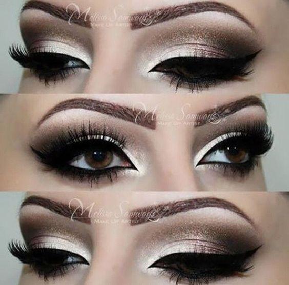 Exotic Wedding Makeup : smokey Kim Kardashian eye makeup Smokey Eye Makeup Unique ...