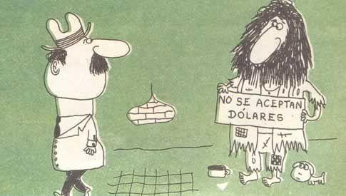 No se aceptan dólares. Landrú