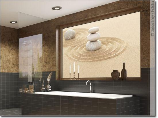 Balance Zen Stones In Sand Folie Fur Fenster Sichtschutzfolie Fensterfolie