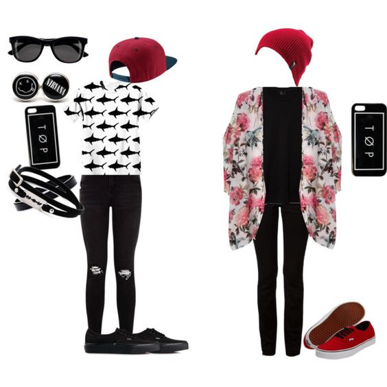 Josh Dun  -/ Tyler Joseph by sunnystorm on Polyvore featuring polyvore fashion style Theory T By Alexander Wang Vans McQ by Alexander McQueen L. Erickson NIKE Volcom H&M