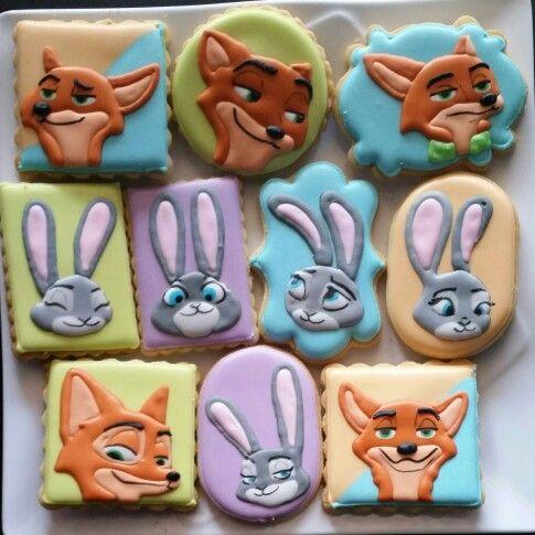 Zootopia cookies: