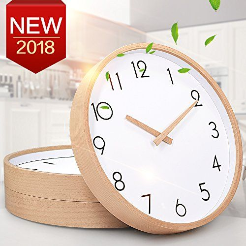 Txl Wall Clock Wood 12 Silent Large Wood Wall Clocks Digital Wall Clock Non Ticking For Night Table Kitchen Office Vintage Home Decor 1