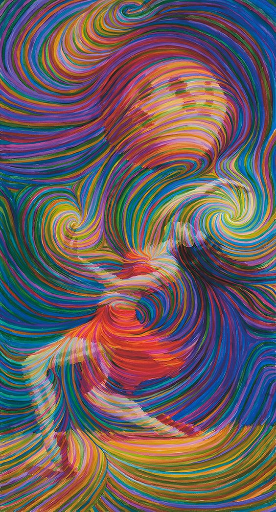 Moon Dancer Energy Painting - Giclee Print Signed By Julia Watkins. You got to love the movement in this work.: