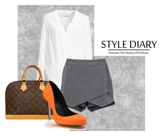 """""""Stle Diary."""" by antojhoran124 ❤ liked on Polyvore featuring By Malene Birger, Louis Vuitton, Witchery, Shoes of Prey and louisvuitton"""