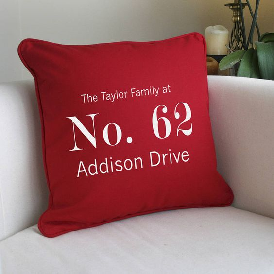 personalised 'address' cushion by a type of design   notonthehighstreet.com