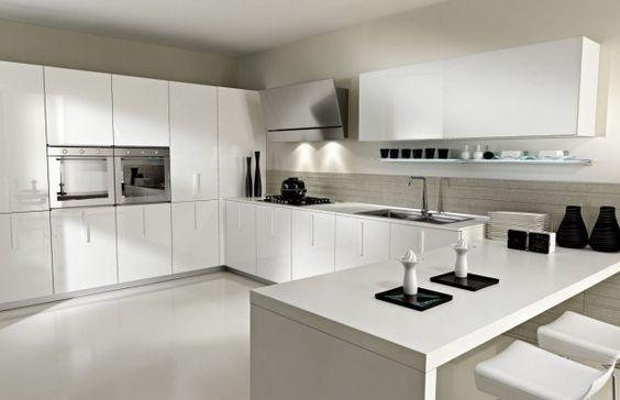 Cucina bianca. Total white kitchen. | Modern Kitchens | Pinterest ...