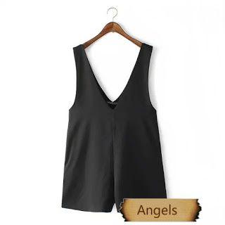 女裝韓版寬鬆大碼連體褲闊腿褲553   Angels Fashion Shop