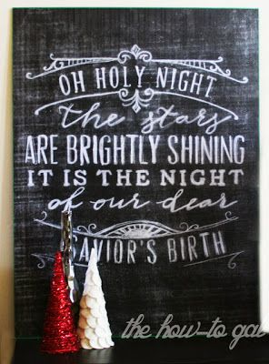 Allred Design Blog: IBP Faux Christmas Chalkboards