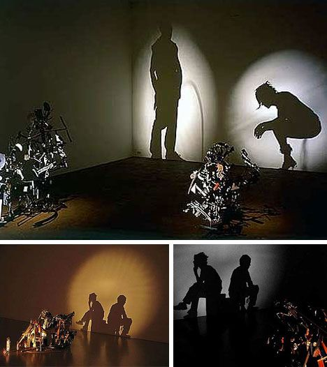 Shadow art from rubbish by art duo Tim Noble and Sue Webster.  Trash can be beautiful!