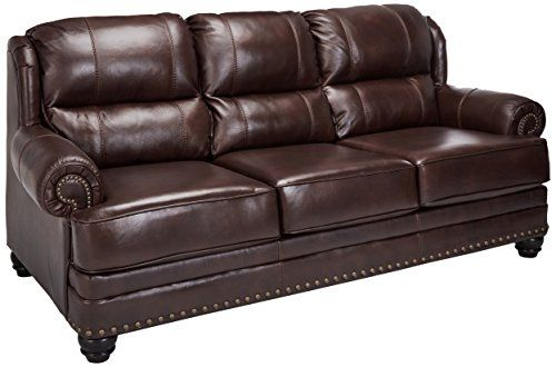 Ashley Furniture Signature Design Glengary Sofa Traditional Style Couch Chestnut Review Ashley Furniture Living Room Ashley Furniture Sofas Royal Furniture