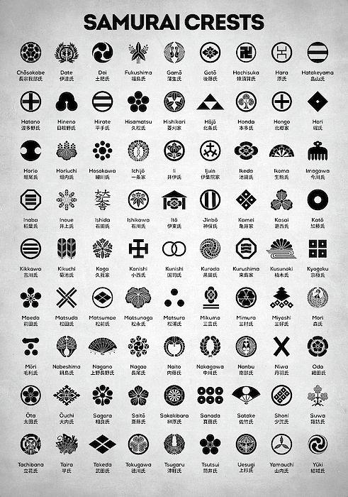 Samurai Crests Samurai Japanese Family Crests Samurai Clans Mon Emblem Martial Arts Ja Japanese Tattoo Symbols Japanese Tattoo Art Japanese Family Crest