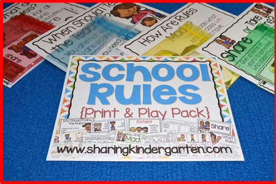 School Rules Print & Play Pack