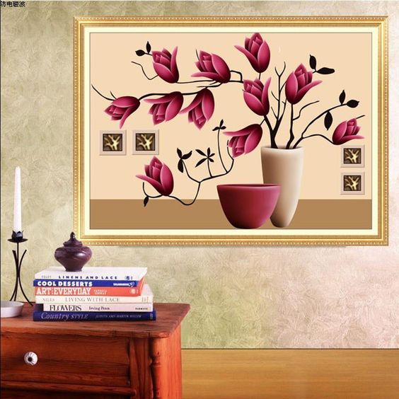 Find More Diamond Painting Cross Stitch Information about Diy diamond painting New arrive 5D round embroidery cross stitch Flower art stickers canvas diamond mosaic decoration picture,High Quality decorative pictures for bathrooms,China decorating kids bedrooms pictures Suppliers, Cheap picture sakura from Diamond paint factory on Aliexpress.com