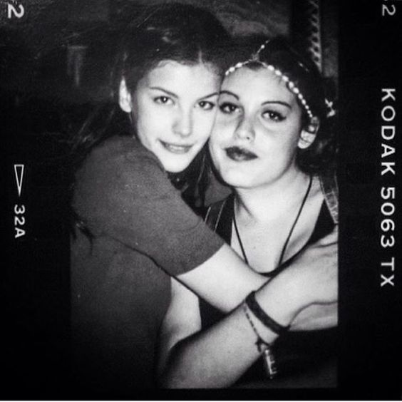 💗 me and my sweet sister @miatyler way back when 💗 just puppies. Sister before tattoos!!!