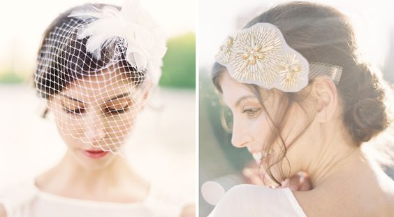 Hushed Commotion veil and bridal hair accessories