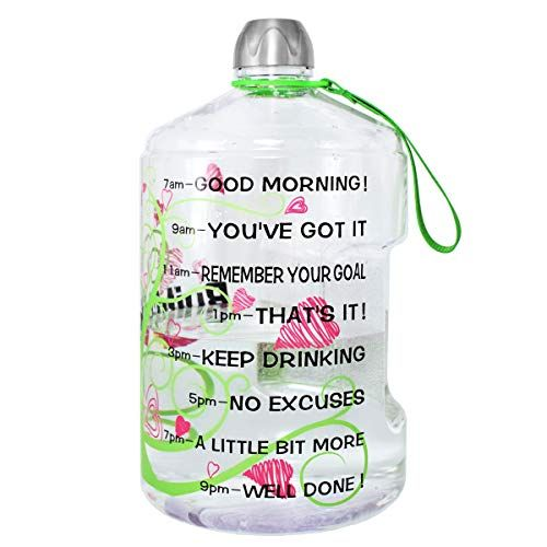 Quifit 1 Gallon Water Bottle Reusable Leak Proof Drinking Water Jug For Outdoor Camping Bpa Fr Gallon Water Bottle 1 Gallon Water Bottle Reusable Water Bottles