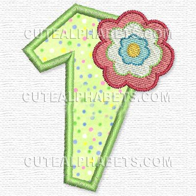 Free Embroidery Design: Clementine Numbers – 1