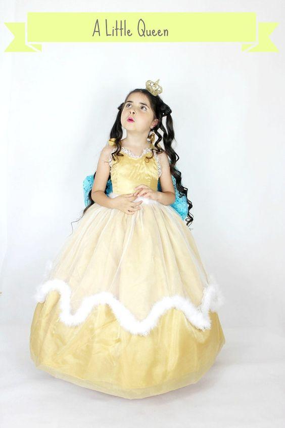 Princess Costume  Gold Princess Dress  by FriolinaFancyDesigns, $230.00