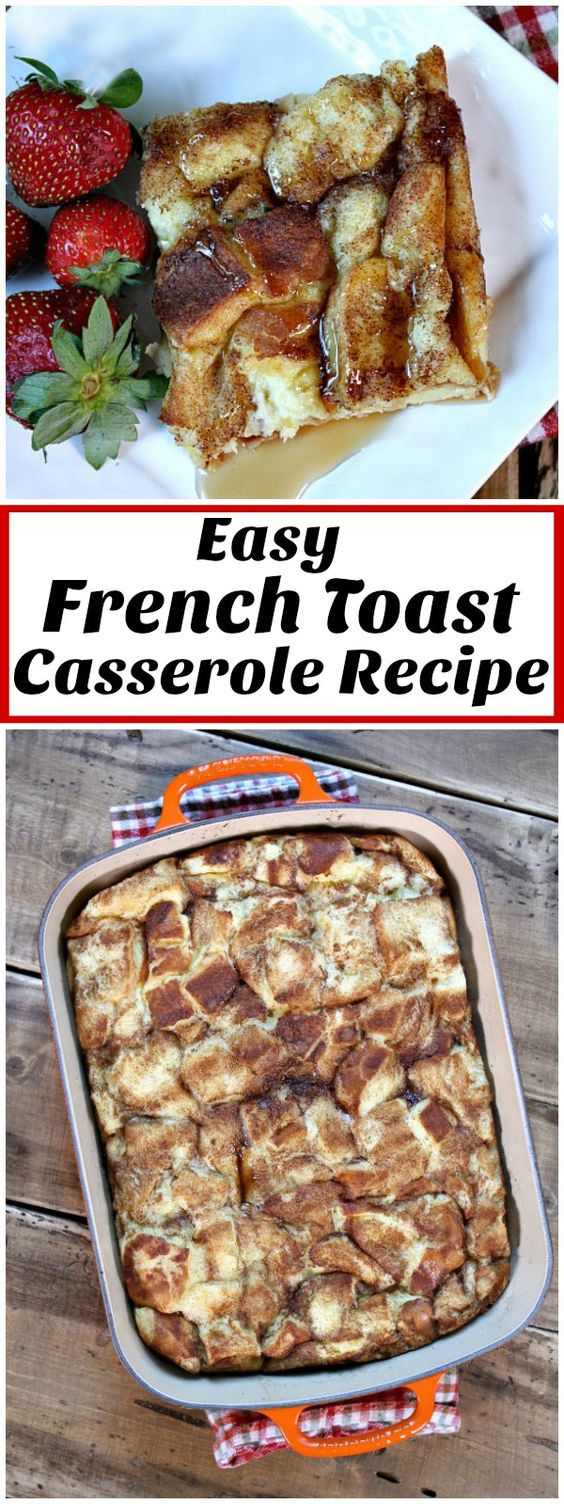 Classic, Easy French Toast Casserole recipe from RecipeGirl.com This is the perfect holiday breakfast recipe.