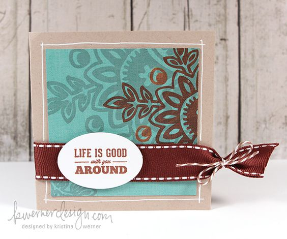 Life is Good with You Around Card