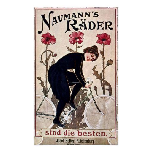 Vintage de la publicidad de la bicicleta poster