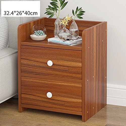Bedside Table Xiaodong Bedroom Multifunction Lockers Bedside Storage Cabinet 2 Drawers Side Table Simple Bedside Tables Wood Bedside Table Bedroom Night Stands