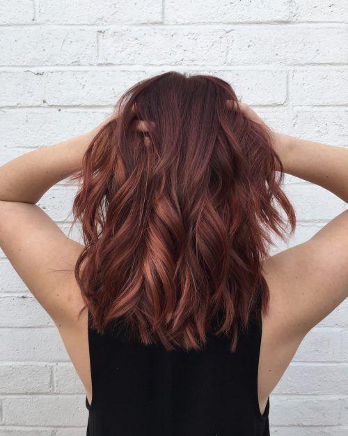 Slim Fit Jeans Fur Damen Red Blonde Hair Hair Lengths Medium