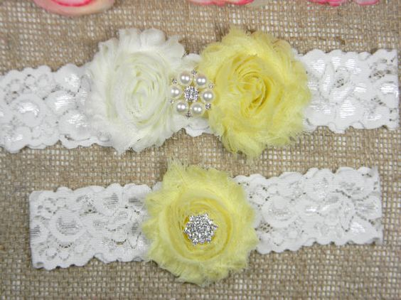 Check out this item in my Etsy shop https://www.etsy.com/listing/261786368/yellow-wedding-garter-bridal-garter