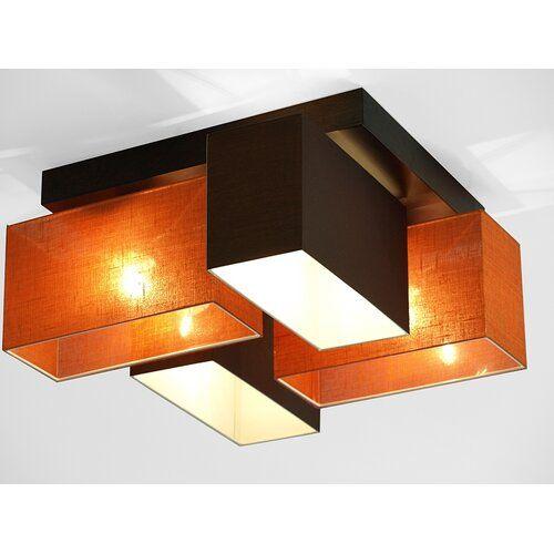Lorenzo 4 Light Ceiling Light Brayden Studio Frame Colour Dark