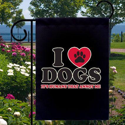 I Love Dogs Small Garden Flag Free Ship USA by SabellasEmporium, $12.99