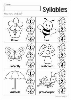 math worksheet : syllables worksheets for preschoolers  kindergarten math and  : Kindergarten Syllable Worksheets