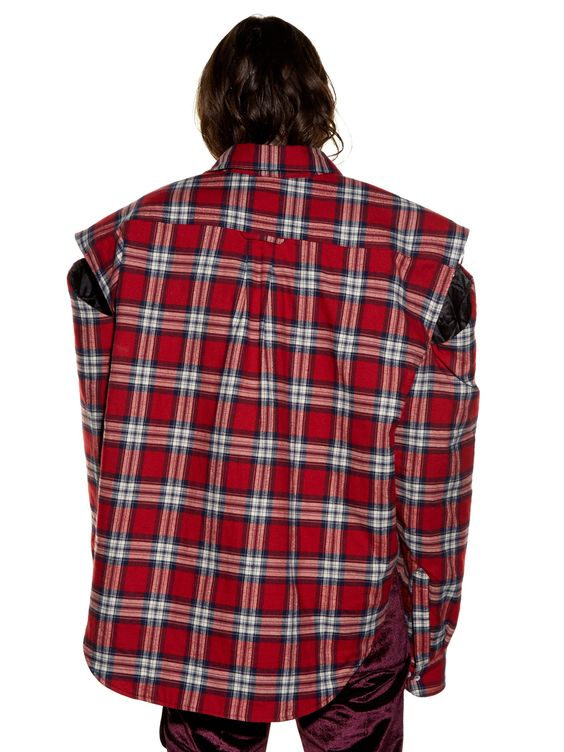 Exaggerated-shoulder checked flannel shirt | Vetements | MATCHESFASHION.COM UK