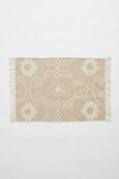 Anthropologie French Quartier Flatwoven Rug 2'x3' Beige/Taupe Floral Wool Cotton #Anthropologie