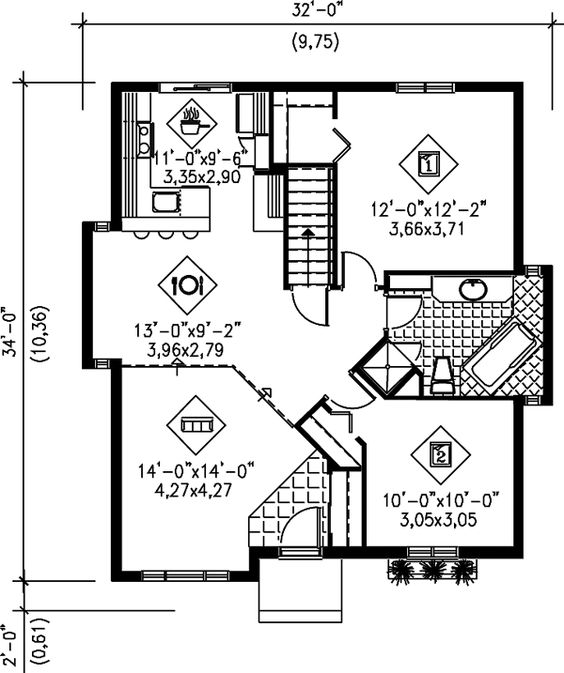 First Floor of Plan ID: 32091