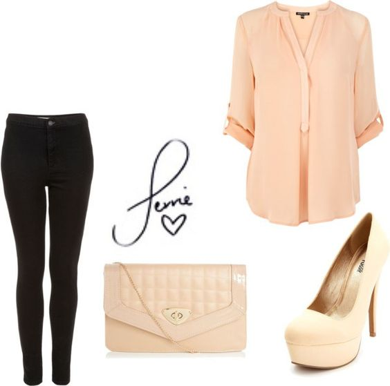 Pretty pale pink. Cute for school or get together.