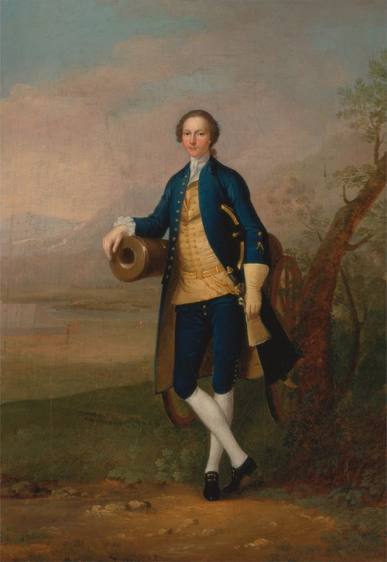 Arthur Devis: Gentleman with a Cannon. 1741.: