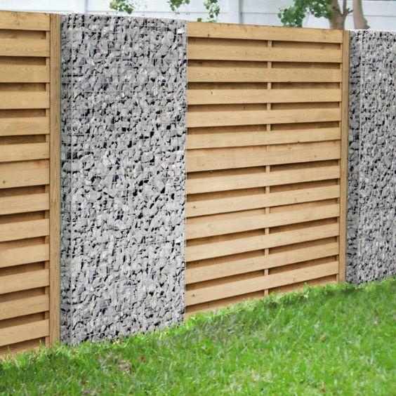 Gabionen - Sichtschutz - Zaun- \ Torsysteme Garten Pinterest - sichtschutzzaun aus kunststoff gute alternative holzzaun