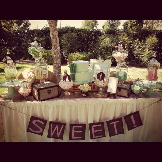 Dessert Buffets | Vintage Dessert Buffet - Spoonful of Sugar Custom Candy Buffets