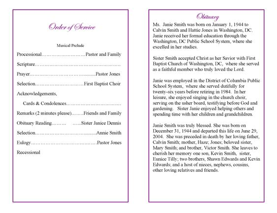 funeral_program_example_5_Page_2png (2201×1701) Girl Scouts