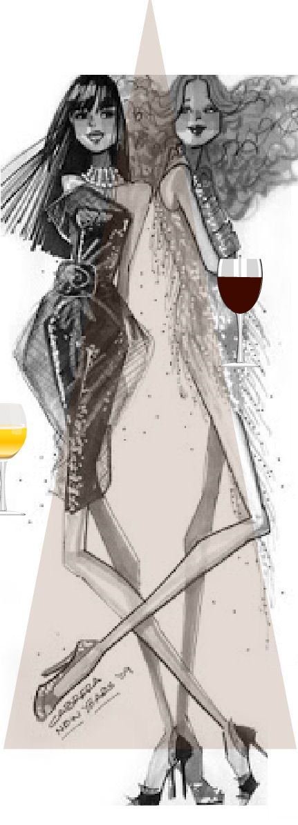 Fashion 20. New Year's sketch by Alfredo Cabrera.