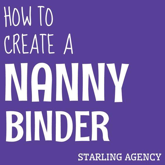How to create a nanny binder #nannylife #nanny